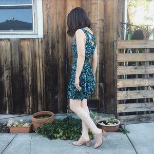 Vintage floral fit flare romantic dress